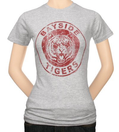 Saved By The Bell Bayside Tigers Junioren Grau T-Shirt | XL (Bayside Bell Tigers)