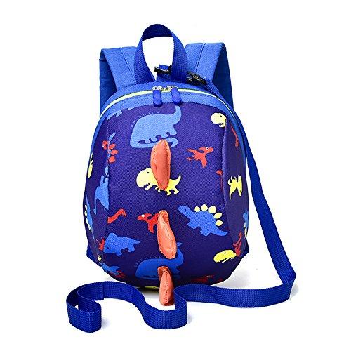 Preisvergleich Produktbild Cartoon Kleinkind Baby Harness Rucksack,  Yimoji Leine Sicherheit Anti-verloren Rucksack,  Strap Walker Dinosaurier Rucksack für Baby Mädchen und Jungen, Dunkelblau