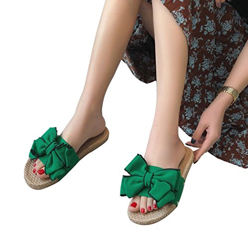 Beikoard promozione della moda sandali donna taco scarpe da spiaggia per donna (verde, 39)