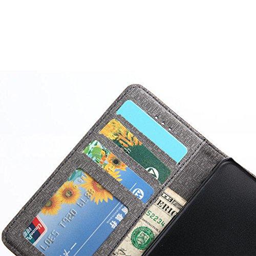 inShang Hülle iPhone 7 4.7 inch iPhone7 Cover con Ständer,PU Leder Tasche Skins Etui Schutzhülle Smart Case Cover mit super-nützliche Geldbörsenart, Wallet design with card slot Checker brown