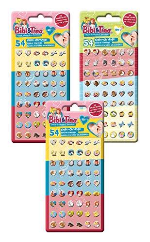 Craze 14424 Sticker Earrings, Bibi und Tina, 162 Klebeohrringe, unisex-child