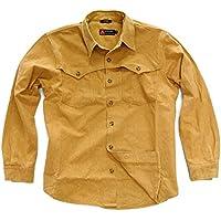 Kakadu Traders Western Outdoor Señor Camisa Station, hombre, color mostaza, tamaño extra-small