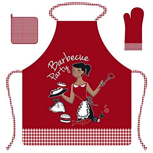 Armadietto grembiule + guanti + presina barbecue srm