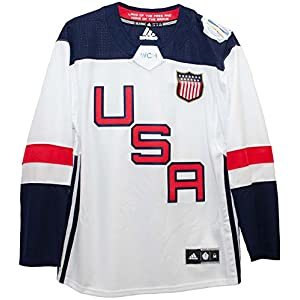 adidas Herren USA Hockey weiß 2016 World Cup of Hockey Premier blanko Jersey