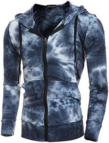 Jeansian Hommes Mode Sweats a capuche Sport Hoodies Men's Casual