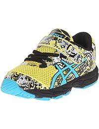 ASICS Zapatillas para correr Noosa Tri 11 TS (Ni?o peque?o), Sol / Azul marino / Negro, 5 M Ni?o de EE. UU.