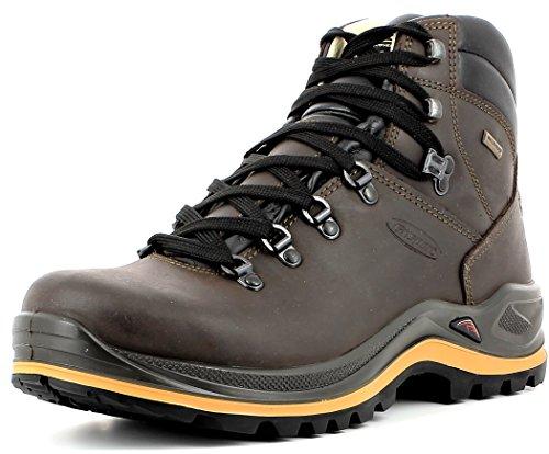 Grisport Unisex Schuhe Herren und Damen aus der Ranger Linie, Trekking- und Wanderstiefel aus hochwertigem Leder, Membrankonstruktion und Vibramsohle, Braun-Spotex, 44 EU