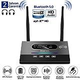 MEROURII Bluetooth Adapter Audio, 2-in-1 Bluetooth Transmitter & Empfänger, Fiber Wireless Sender Digitales Optisches Audiokabel und 3,5 mm Audiostecker, aptX HD, geringe Verzögerung RCA