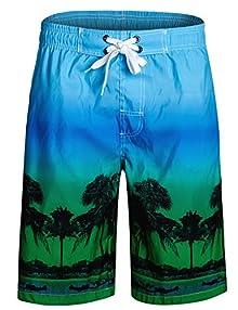 931156a1411 APTRO APTRO Men's Swim Trunks Shorts Swimsuits Bathing Suits HW001 Green S