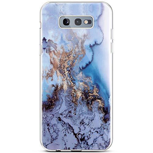 Marmor-Schutzhülle für Samsung Galaxy S10e, TPU, weiches Silikon, Blue sea, Samsung Galaxy S10e -