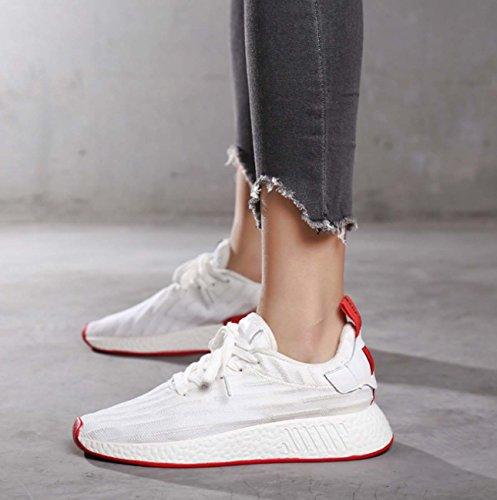 sport fiammifero svago di Stile FARALY Sneaker uomini di coppie pattino viaggio volo pattino White di traspirante tutto di coreano Donne formato correnti pattini del grande H76qCOw7