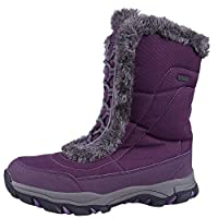 Mountain Warehouse Ohio Womens Snow Boots - Waterproof Ladies Winter Shoes, Textile Upper, Durable & Breathable Isotherm Lining & Rubber Outsole - for fit and Comfort