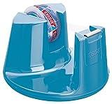 tesa Tischabroller, mit neuem Anti-Rutsch Boden, Modell Compact, blau, inkl. 1 Rolle tesafilm