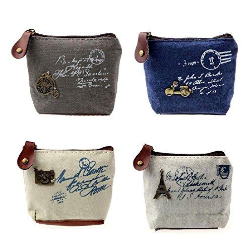 Yogogo 2017 Fille femmes Retro Coin Bag Porte-monnaie Wallet Card Case Handbag