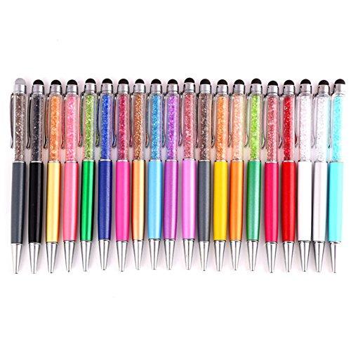 Hacoly 5 Pcs Crystal Diamond Stylus mit Kugelschreiber kapazitive Styli Touch Pen für Tablets / Smartphones Bildschirm - zufällige Farbe Touch Diamond Smartphone