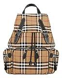 Burberry zaino the rucksack nyon medio con motivo vintage check 80067241