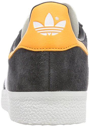 adidas Herren Gazelle Sneaker Grau (Carbon/Footwear White/Real Gold)