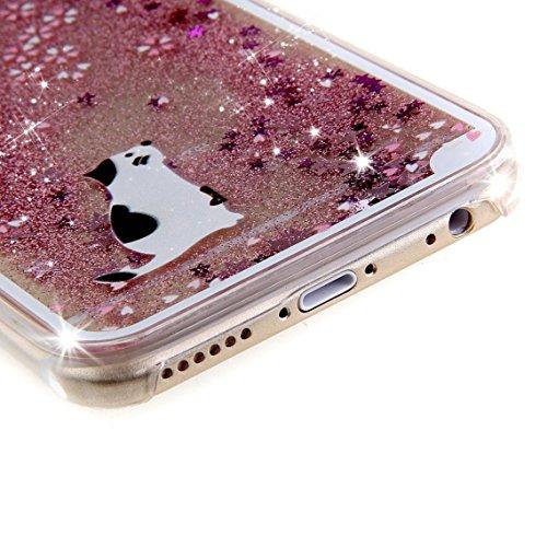 iPhone SE Hülle Glitzer,iPhone SE Hülle Hard,iPhone SE Hülle Clear,iPhone SE Transparent Crystal Clear flüssigkeit Case Hülle Klare Ultradünne Transparente Gel Schutzhülle Durchsichtig Rückschale Etui Animal Series 4