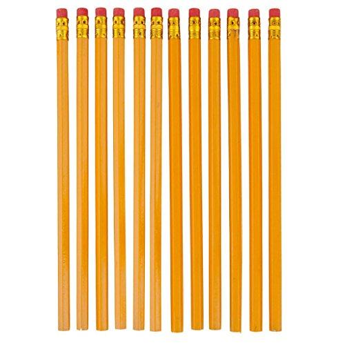 Hosaire 10 Stück Bleistift 2HB Holz mit Radiergummis 2HB Crayons Bois Jaune(gelb)