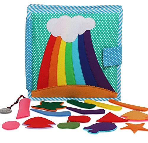 faszinierendes Spielbuch rund um Farben, Formen und Zuordnung, Quiet-Book 8 Seiten