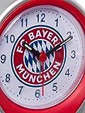 Wecker Logo FC Bayern MÜNCHEN + Sticker München Forever, Wecker FCB, Uhr