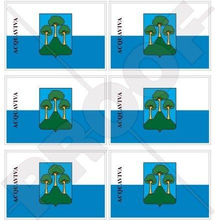 Castello Mini (Acquaviva Castello Flagge San Marino 40mm (40,6cm) Mobile Handy Vinyl Mini Sticker, Aufkleber X6)
