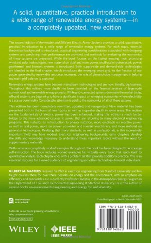 Renewable and Efficient Electric Power Systems (Wiley – IEEE)