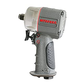 AIRCAT 1056-XL Kevlar Composite Compact Impact Wrench, Grey, 1/2-Inch
