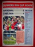Arsenal 2 Chelsea 1 - 2017 FA Cup final - souvenir print