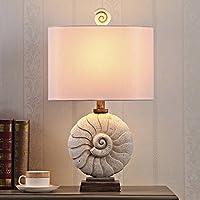 Xcjyy Mediterráneo oriental, arte, simple, americano, europeo Lámpara de mesa / The Villa, Sea, Model, Conch Lamp / Living Room, Study, Bedroom Table Lamps-A,A