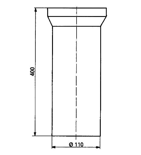 Ordentlich Anschlussrohr für Stand WC | Weiß | 400 mm | WC, Toilette: Amazon  ZL08
