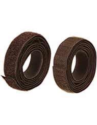 Brunner 610/521 - Cinta de velcro (gancho y bucle), color marrón