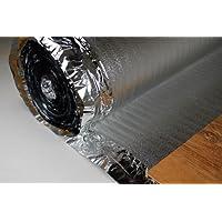 25 m² Trittschalldämmung mit Alu Dampfsperre für Laminat Parkett, SILVER PLUS 2 mm