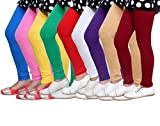 #10: IndiWeaves Girl's Cotton Leggings - Pack of 9