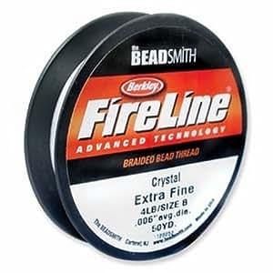 Crystal Fireline Braided Beading Thread .008 Inch 50 Yd