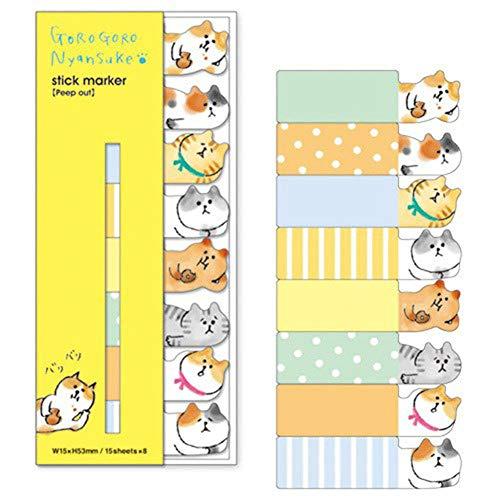 Mini Office Depot Mini Süss Kawaii Cartoon Cat Notiz Papier Aufkleber Memo Schule Zubehör (Office Depot Memo)