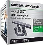 Rameder Attelage rotule démontable pour Peugeot 3008 Monospace + Faisceau 7 Broches...