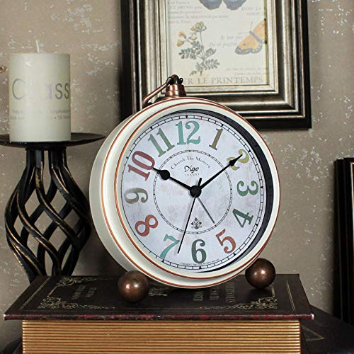 GYHJG Despertador De Campana Doble Clásico Vintage