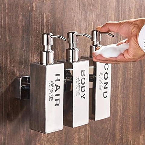 YHJ Seifenspender Edelstahl Hand Seifenspender Seife Box Hotel Badezimmer Küche Wand waschen Hands Flasche Flasche Dusche Triple