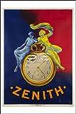 Générique PUBLICITé: Montres Zenith Cappiello - Poster/Reproduction 50x75cm d'1 Affiche Vintage