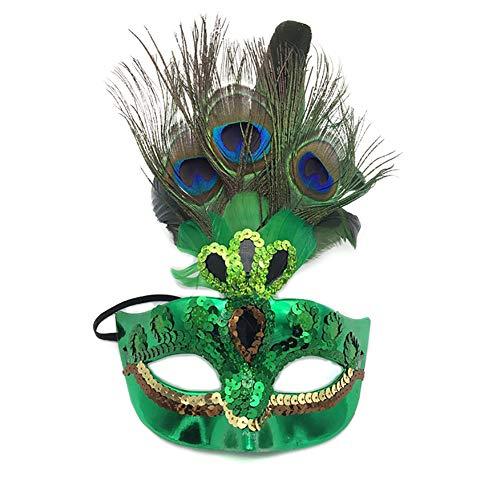 hou zhi liang Make-up-Maske für Damen, Pfauenfeder-Maske