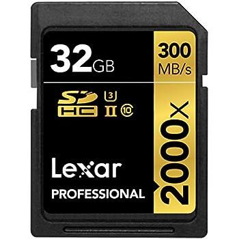 Lexar Professional Scheda SDHC, 32 GB, Velocità fino a 300 MB/s, 2000x, UHS-II/U3, con Lettore USB 3.0