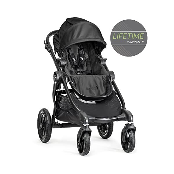 Baby Jogger City Select Single Stroller Black  From 6 months -15 kg Patented Quick-Fold Technology- fold your stroller in one step 16 possible seating combinations (with double conversion kit sold separately) 1