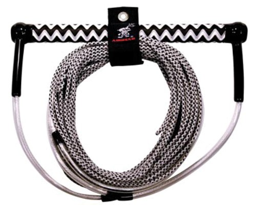 51G YHjSSCL - Kwik Tec Adult AHWR-5 AIRHEAD Spectra Wakeboard Rope, Black, Up to 70ft