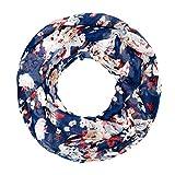 Autiga Damen Loop-Schal Schlauchschal Blumen Blüten Blümchen Blumenmuster, Blumen Blau, unisize