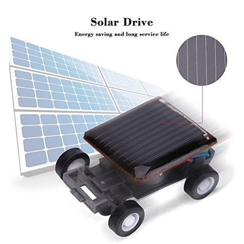 Boquite Caricabatterie Solare, Pannello Solare, Giocattoli educativi Mini energia Solare Auto per Bambini Kit di Formazione del Cervello Tecnolo