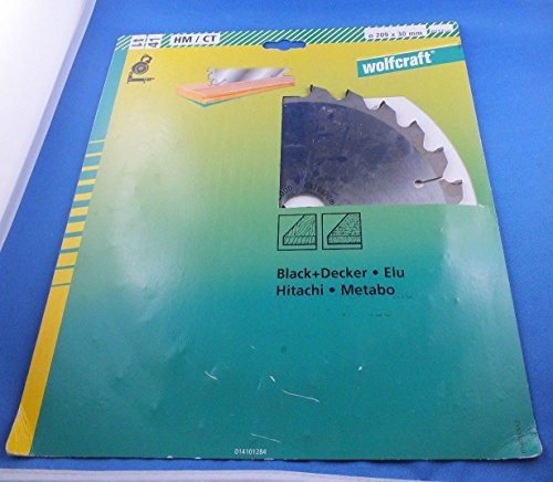 Wolfcraft Sierra circular circular, sierra circular de mesa, sierra de ingleteado para Sr 700Black Decker ELU Hitachi Metabo 209x 30x 2,8mm