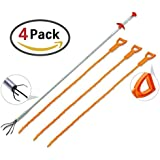 4 Pack 19.99inch drain serpent cheveux extracteur de la goutte de vidange avec outil de nettoyage de suppresseur de clog pour cuisine / lavabo / baignoire