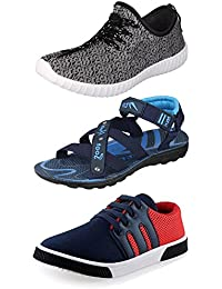 Maddy Perfect Combo Of Sport Shoes, Sneaker & Sandal For Men Pack Of 3 In Various Sizes - B0727RX7C5