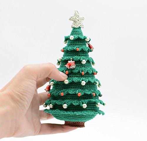 chtsbaum mit Globus und Glocken, perfektes Geschenk, Haupt Dekoration, Amigurumi Ornament ()